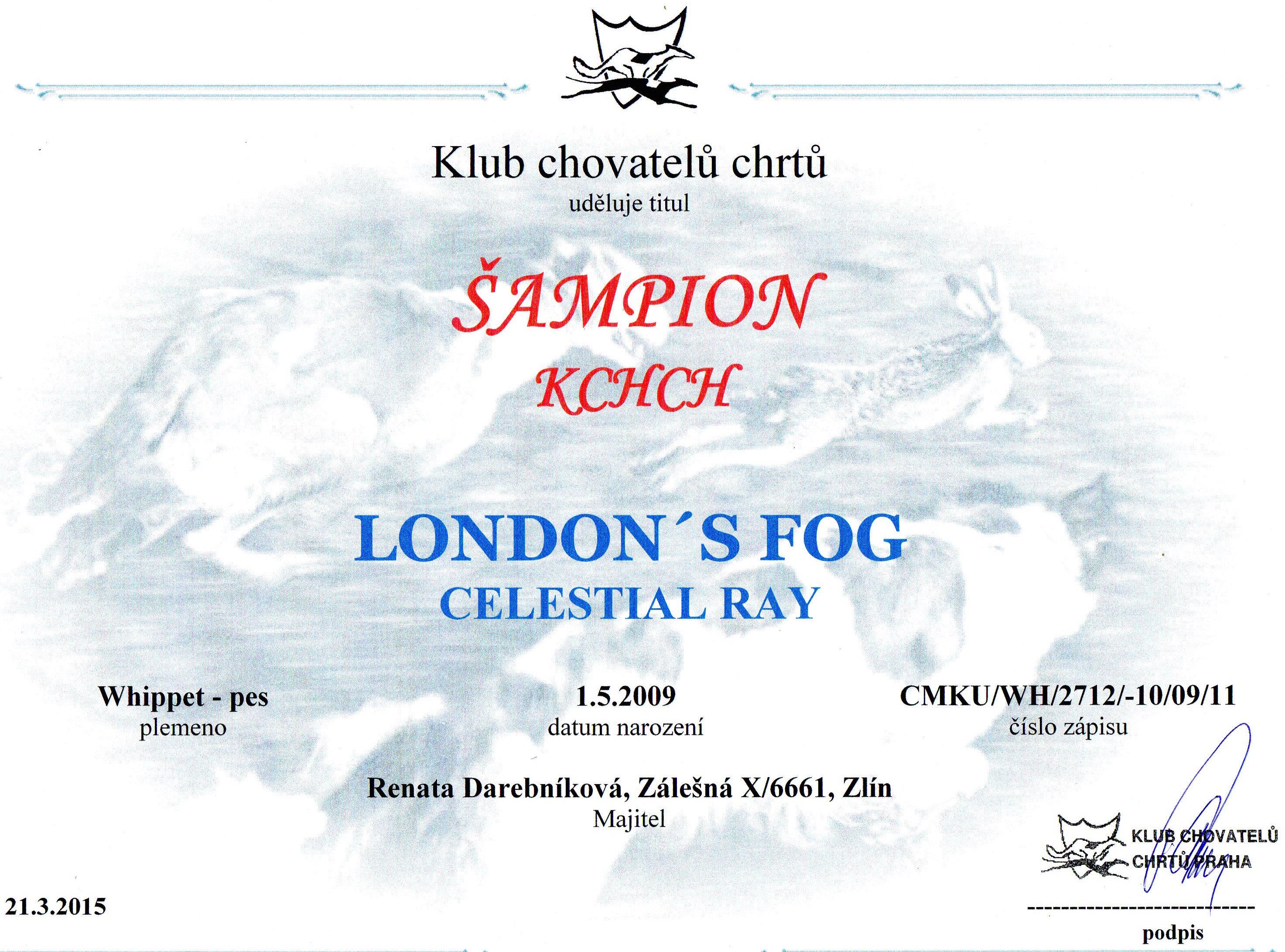 šampion KCHCH